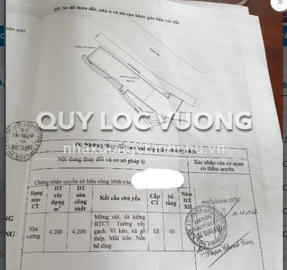 Bán đất và nhà xưởng tại xã Phước Hòa huyện Phú Giáo Bình Dương diện tích 9.000m2