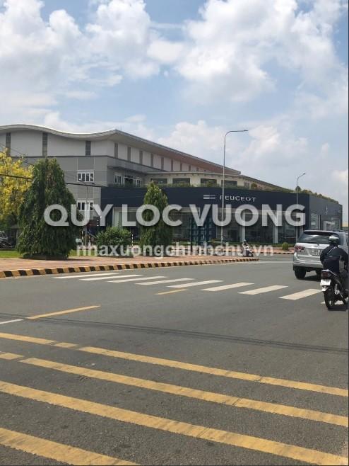 Cho thuê showroom và kho xưởng mặt tiền đường góc ngã tư QL1A và 17A KCN Biên Hòa 2