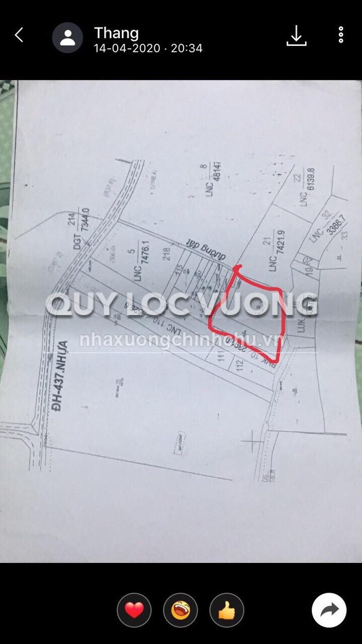 Bán đất xây xưởng diện tích 8.900m2 tại xã Đất Quốc, Tân Uyên, Bình Dương