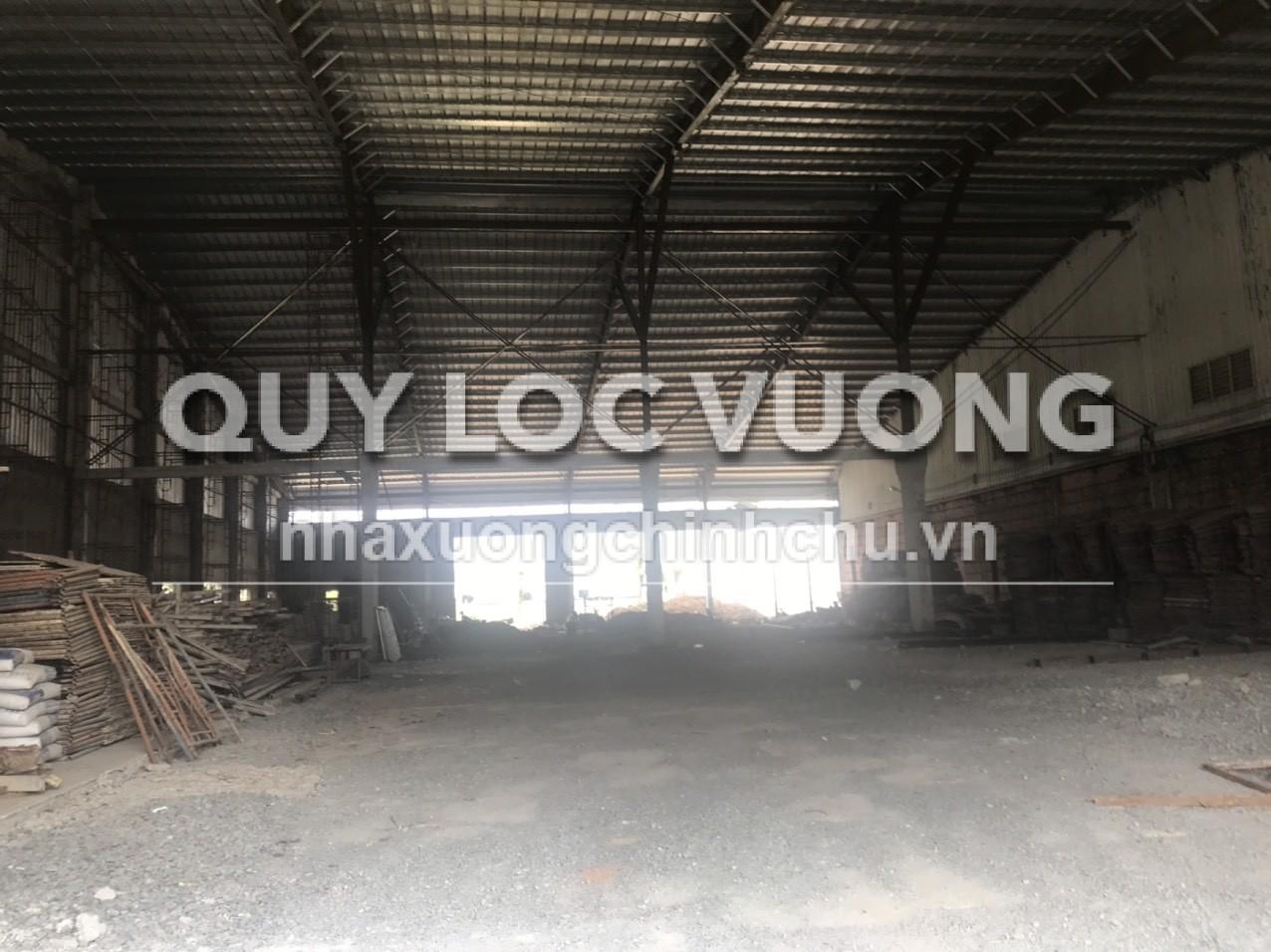 Cho thuê nhà xưởng trống khu vực thị xã Tân Uyên Bình Dương, 2.000m2